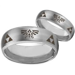 COI Tungsten Carbide Legend of Zelda Beveled Edges Ring-TG3538