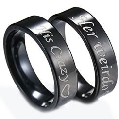 COI Black Titanium His Crazy Her Weirdo Ring-3548