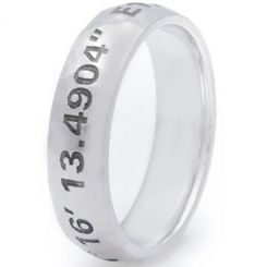 COI Tungsten Carbide Custom Co-ordinate Dome Ring-TG3605