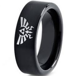 COI Black Tungsten Carbide Legend of Zelda Ring-TG3633