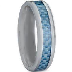 COI Titanium Beveled Edges Ring With Carbon Fiber-3708