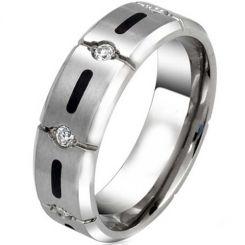 COI Tungsten Carbide Cubic Zirconia Ring-TG3781