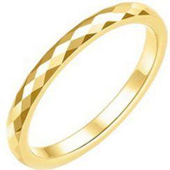 COI Gold Tone Titanium Faceted Ring-3847