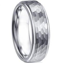 COI Titanium Hammered Step Edges Ring-3851