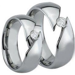 COI Tungsten Carbide Soliatire Ring With Cubic Zirconia-TG882