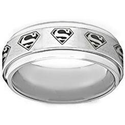 *COI Titanium Superman Step Edges Ring-4032