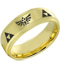 COI Gold Tone Tungsten Carbide Legend of Zelda Ring-TG4050