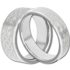 COI Tungsten Carbide Mo Anam Cara Celtic Ring-TG4292