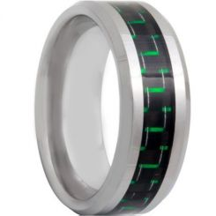 COI Tungsten Carbide Beveled Edges Ring With Carbon Fiber-TG4318