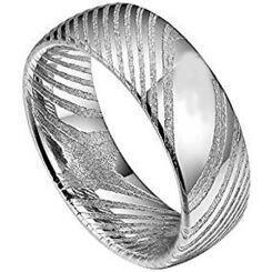 COI Tungsten Carbide Damascus Dome Court Ring-TG4338