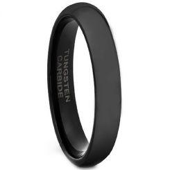 *COI Black Tungsten Carbide Dome Court Ring-TG4483