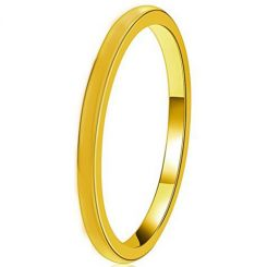 COI Gold Tone Tungsten Carbide Dome Court Ring - TG4497