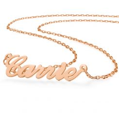 COI Rose Titanium Custom Name Pendant With Stainless Steel Chain-5314