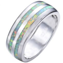 COI Titanium Opal Dome Court Ring-5349