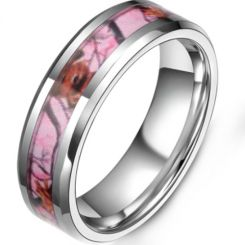 COI Titanium Camo Beveled Edges Ring-5379