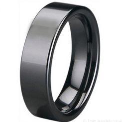 COI Black High Tech Ceramic Pipe Cut Flat Ring-5400