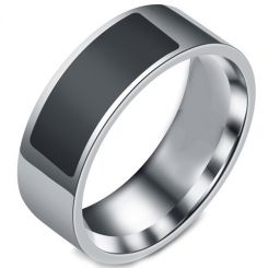 COI Titanium Black Silver NFC For Android Ring-5426