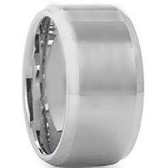 COI Tungsten Carbide 12mm Beveled Edges Ring-5430