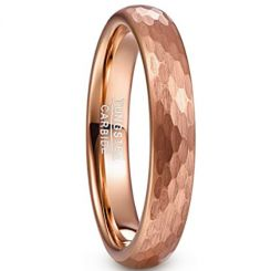 COI Rose Tungsten Carbide Hammered Dome Court Ring-5479