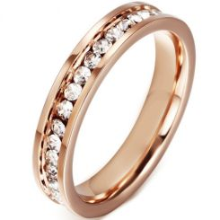 COI Rose Titanium Ring With Cubic Zirconia-5544