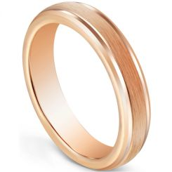 COI Rose Tungsten Carbide 5mm Step Edges Ring-5600