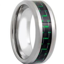 COI Titanium Beveled Edges Ring With Carbon Fiber-571
