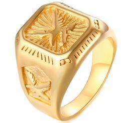COI Gold Tone Titanium Eagle Ring-5722