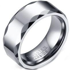 COI Tungsten Carbide Faceted Ring-5731