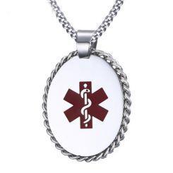 COI Titanium Medic Alert Pendant-5752
