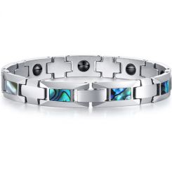 *COI Tungsten Carbide Bracelet With Abalone Shell-TG5768