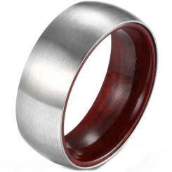 *COI Titanium Dome Court Ring With Wood-5901
