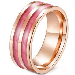 *COI Rose Titanium Ring With Rose Resin-5919