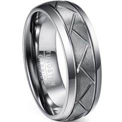 *COI Tungsten Carbide Double Grooves Tire Tread Ring-5950
