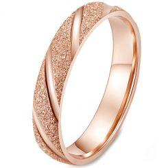 *COI Titanium Black/Silver/Rose Sandblasted Ring-5958