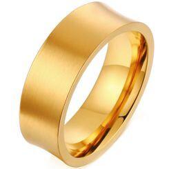 *COI Gold Tone Titanium Concave Ring-6868BB