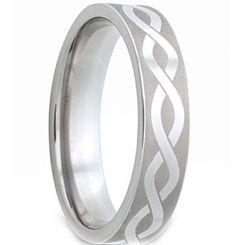 *COI Titanium Infinity Pipe Cut Flat Ring-JT1557