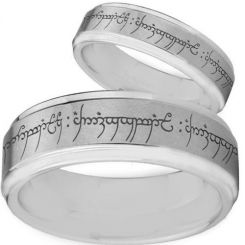 COI Tungsten Carbide Lord of The Ring Step Edges Ring-TG2475BB