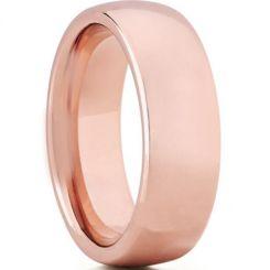COI Rose Titanium Dome Court Wedding Band Ring-JT5048