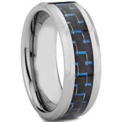 COI Titanium Beveled Edges Ring With Carbon Fiber-572