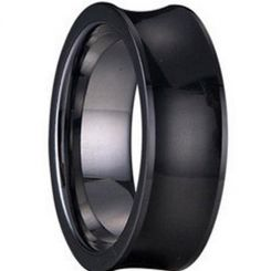 COI Black Tungsten Carbide Ring - TG1242(Size:#US6.5)