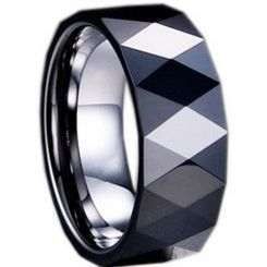 COI Black Tungsten Carbide Ring-TG1281(US14)