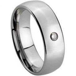 COI Tungsten Carbide Cubic Zirconia Dome Court Ring-TG150