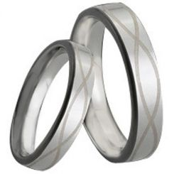 COI Tungsten Carbide Infinity Pipe Cut Flat Ring-TG161
