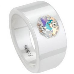COI Ceramic Ring With CZ-TG1742(#US6/8.5)
