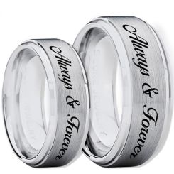 COI Tungsten Carbide Always & Forever Ring-TG2266