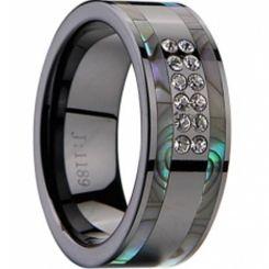 COI Black Tungsten Carbide Ring-TG2270(US6/9/10.5/15)