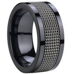 COI Black Tungsten Carbide Ring-TG2365(US11.5)