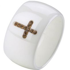 COI Ceramic Ring With CZ-TG2374(US8.5)