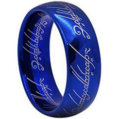 *COI Blue Titanium Lord of The Ring Dome Court Ring-1796