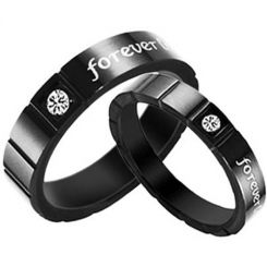 COI Black Tungsten Carbide Ring - TG2820(Size US4.5)